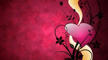 heart, lines, background