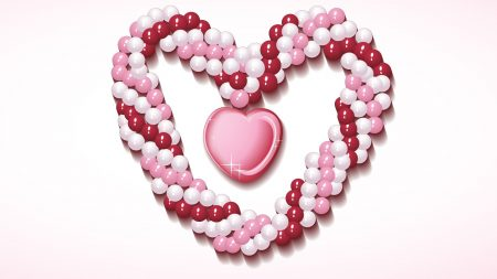 heart, necklace, bright