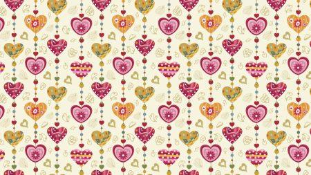 heart, pattern, background