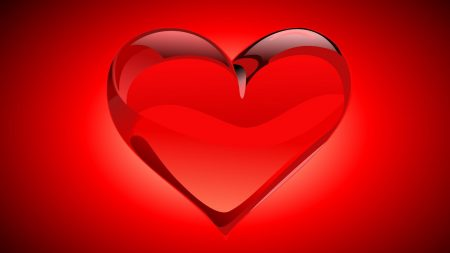 heart, red, bright