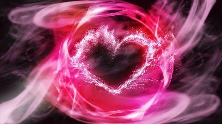 heart, smoke, patterns