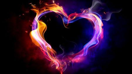 heart, smoke, shape