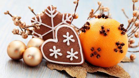 heart, snowflake, oranges