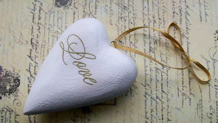 heart, stone, pendant