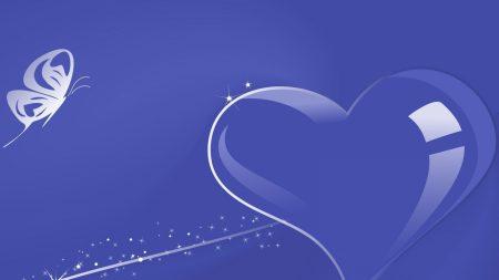heart, white, lilac