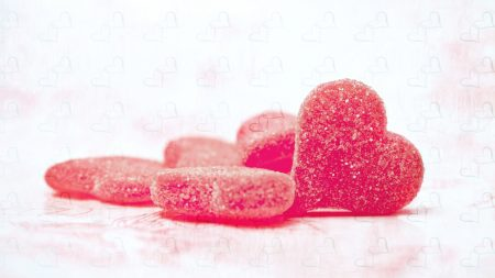 hearts, candy, sugar