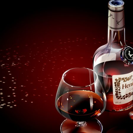 hennessy, glass, cognac