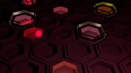 hexagons, bright, shadow