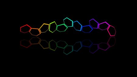 hexagons, colorful, bright