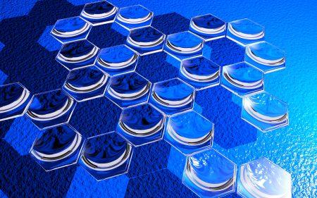 hexagons, glass, shape