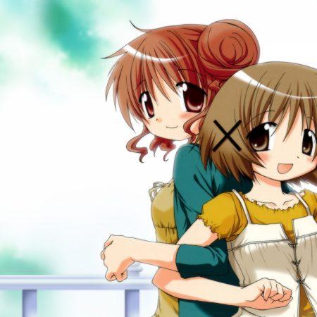 hidamari sketch hiro ume, aoki yuno, girls