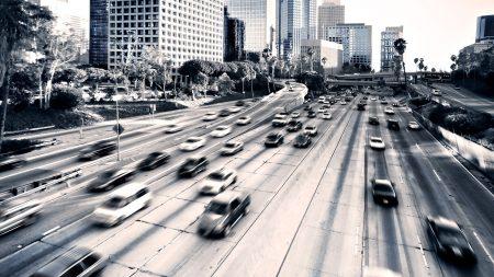 highway, cars, city
