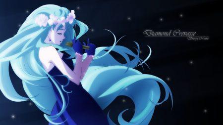 higurashi no naku koro ni, girl, blue hair