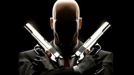 hitman, pistols, bald