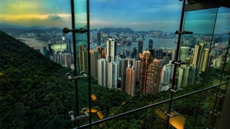 hong kong, view, night