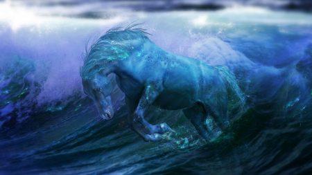 horse, background, line