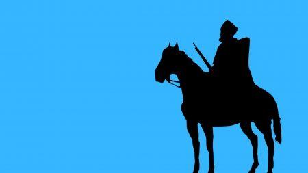 horse, hat, dress