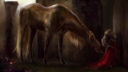 horse, stable, skeleton