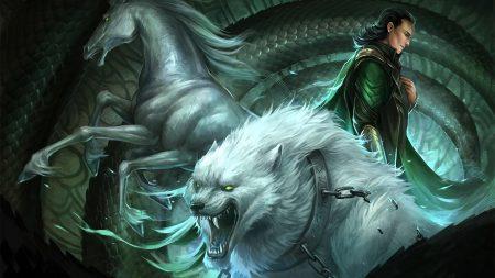 horse, wolf, teeth