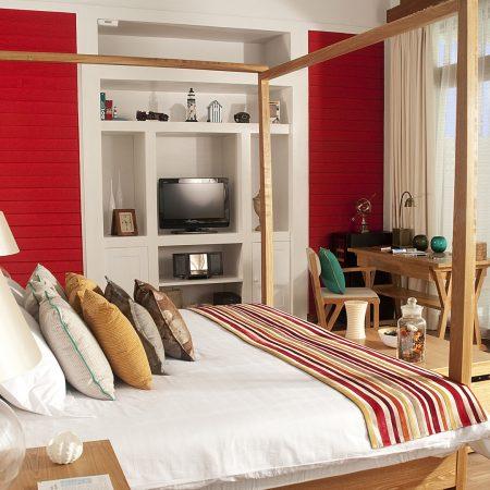 hotel, room, lamp