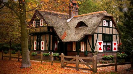 house, cozy, autumn