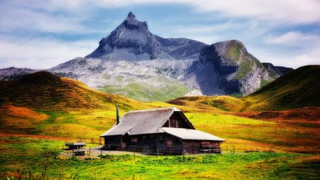 house, peak, mountain
