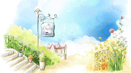 house, summer, flowers