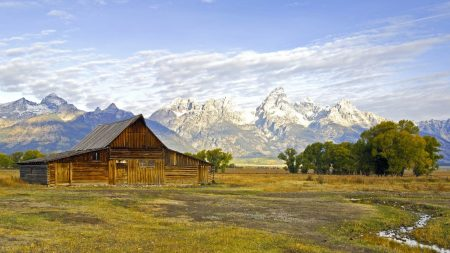 house, wooden, wyoming
