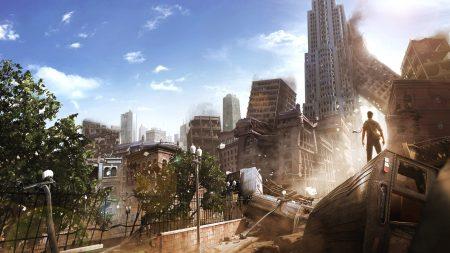 i am alive, city, houses