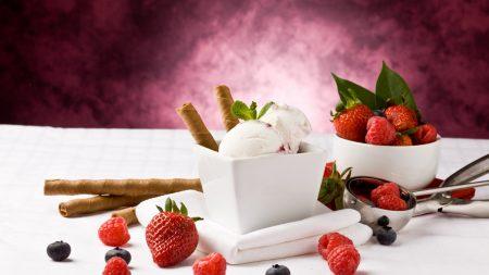ice-cream, tubules, berry