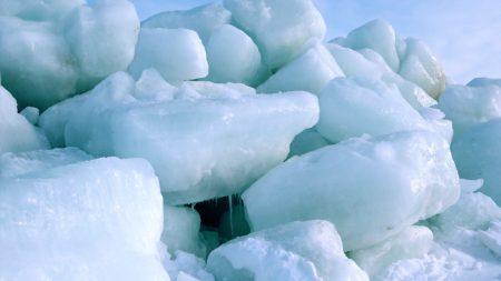 ice, blocks, north pole