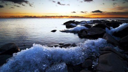 ice, coast, decline
