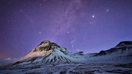 iceland, mountains, snow