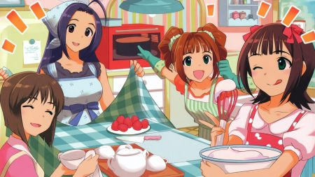 idolmaster xenoglossia, girls, food
