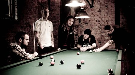 in flames, pool, table