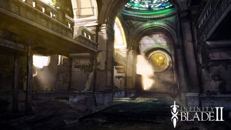 infinity blade 2, cathedral, light