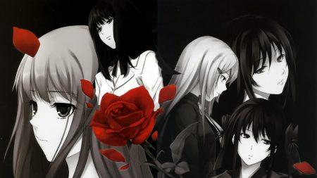 innocence grey, girls, rose