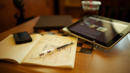 ipad, pen, notebook