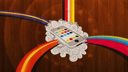 iphone, phone, colorful
