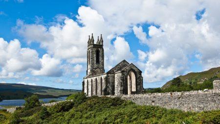 ireland, church, nature