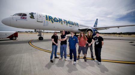 iron maiden, airplane, runway