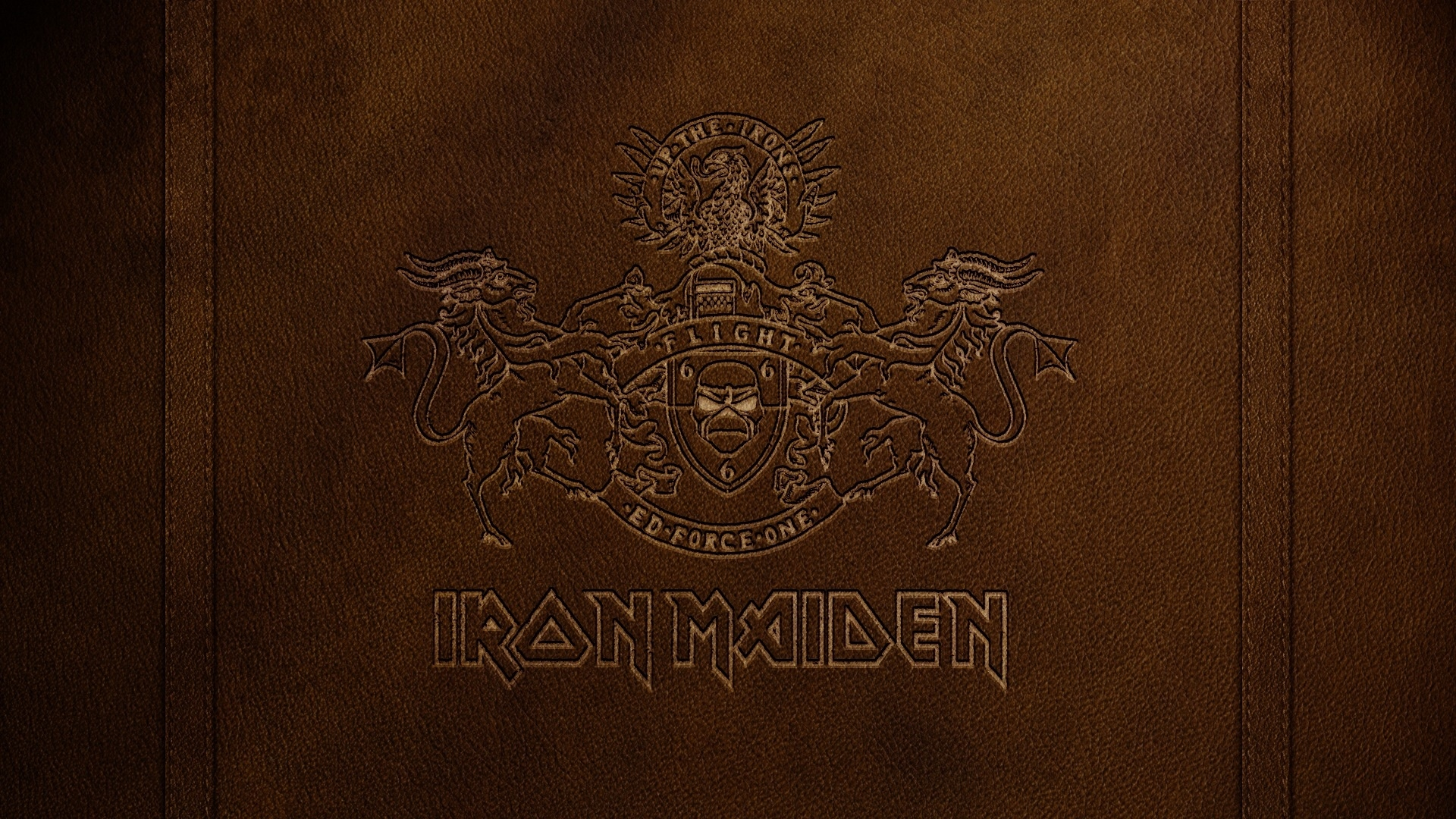 Download Wallpaper 1920x1080 Iron Maiden Letters Symbol Coat Of