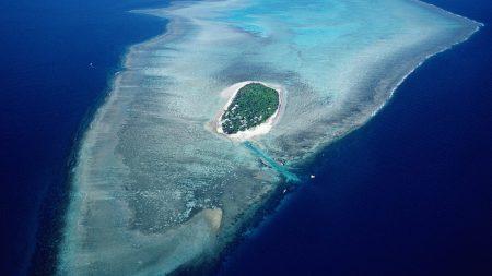 island, bank, sea