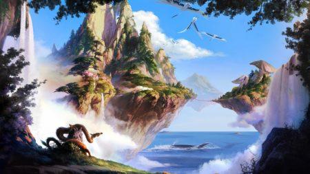 island, sea, sky
