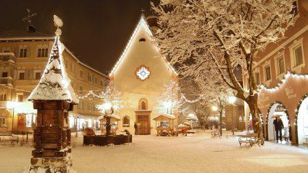italia, snow, house
