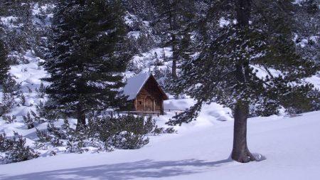 izba, wood, mountains