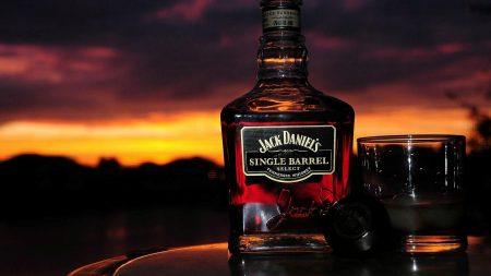 jack daniels, whiskey, glass