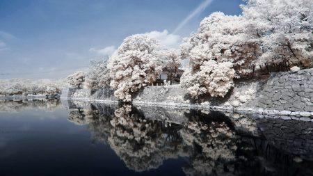japan, coast, river
