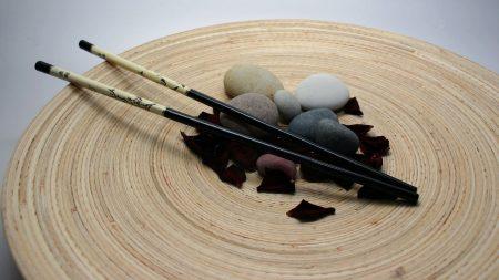 japan, sticks, petals