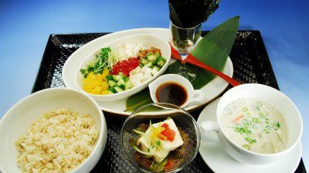 japanese cuisine, rice, soup